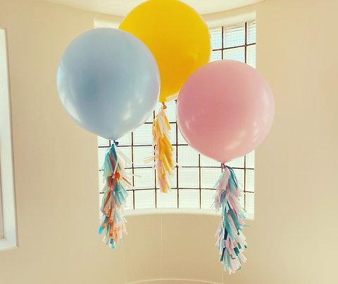 Helium Jumbos with Tassels!