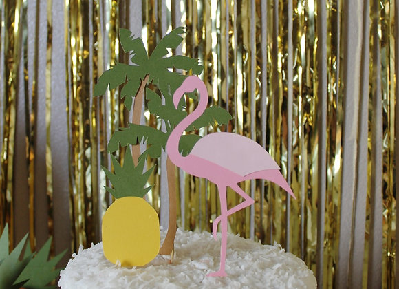 Flamingle Cake Topper Set