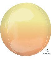 Yellow/Orange 16 inch orbz Balloon