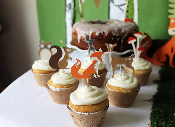 Woodland Cupcake Topper Creatures (6)