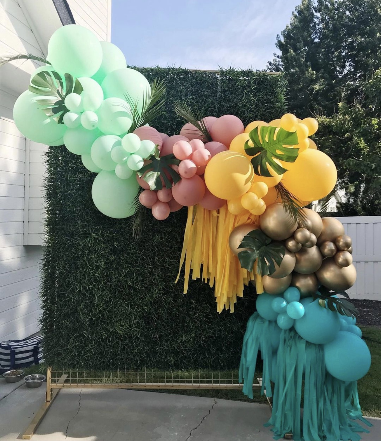 12 foot Standard garland with added greenery and fringe