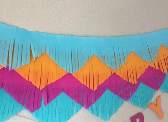 Custom Crepe Fringed Banners