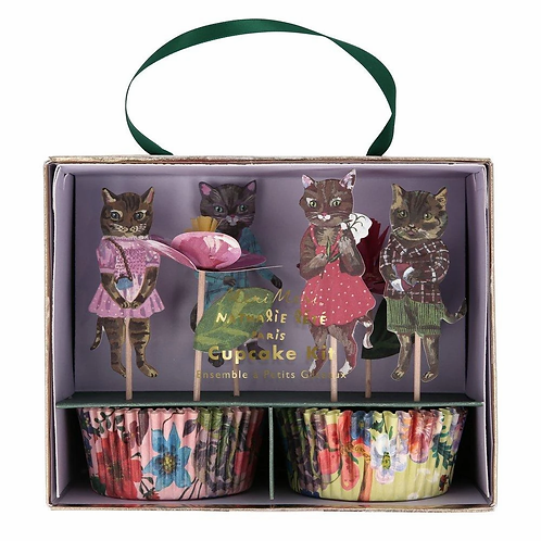 Nathalie Lete Cat Cupcake Toppers