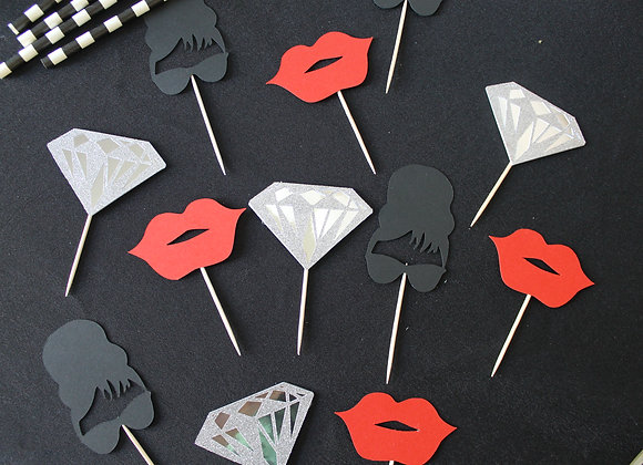 Breakfast at Tiffany's Cupcake Toppers (12)