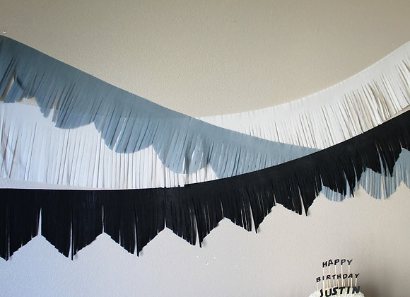 Custom 10 inch wide Fringed Banners