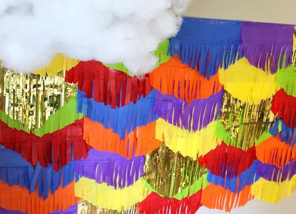 Rainbow Garland Backdrop