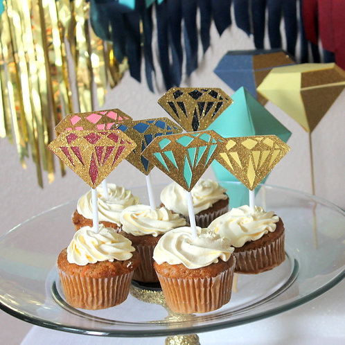 Gem Cupcake Toppers