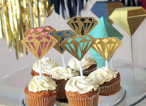 Gem Cupcake Toppers