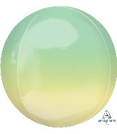 Green/Yellow 16 inch Orbz Balloon