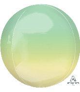 Green/Yellow 16 inch Orbz Balloon
