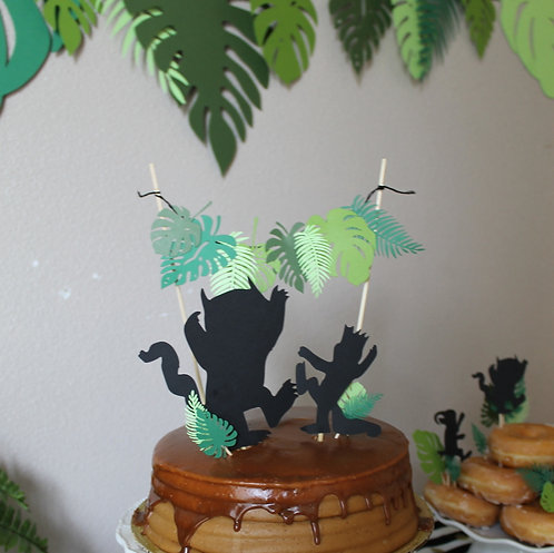 Leaf and Silhouette Topper Set