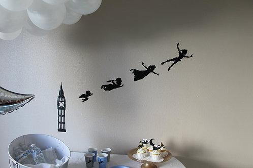 Peter Pan Night Decal Backdrop Set