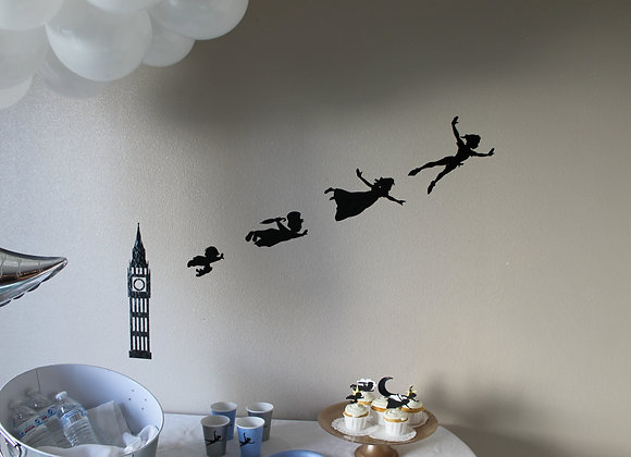 Peter Pan Night Decal Backdrop Set