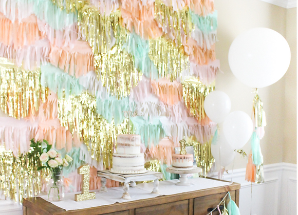 Peach and Mint Backdrop