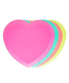 Heart Neon Plates (8)