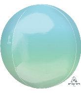 Blue/Green 16 inch orbz Balloon