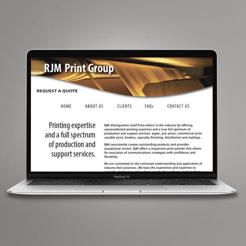 RJM Print Group Website