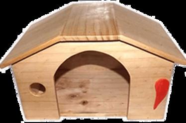 Casa de madera para conejo