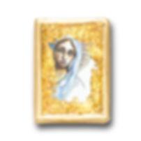 18k gold rosary frame pendant
