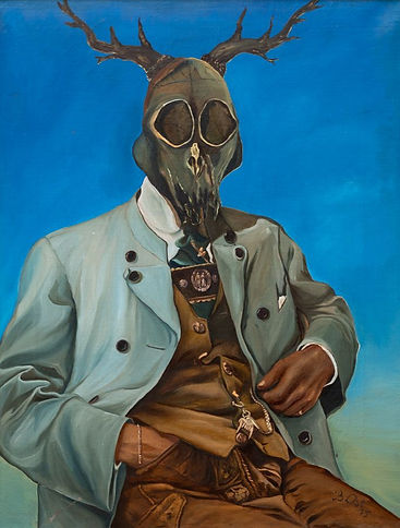 The Hunter Haunted 1984 Oil on canvas 21 x 16.2 inches