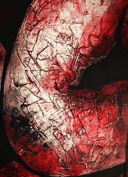 Acrylique sur toile (détail) © Sacha