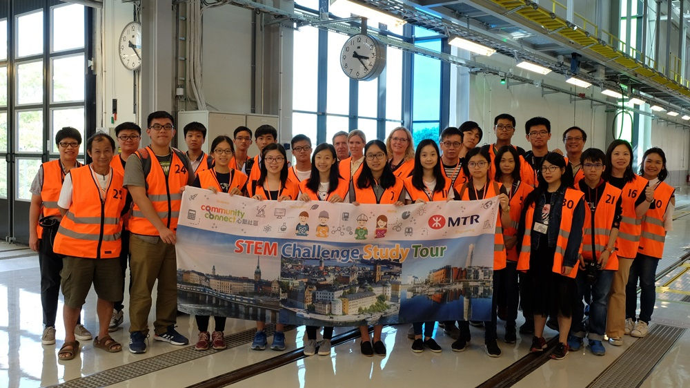 Study tour for the best performing teams of the MTR STEM Challenge