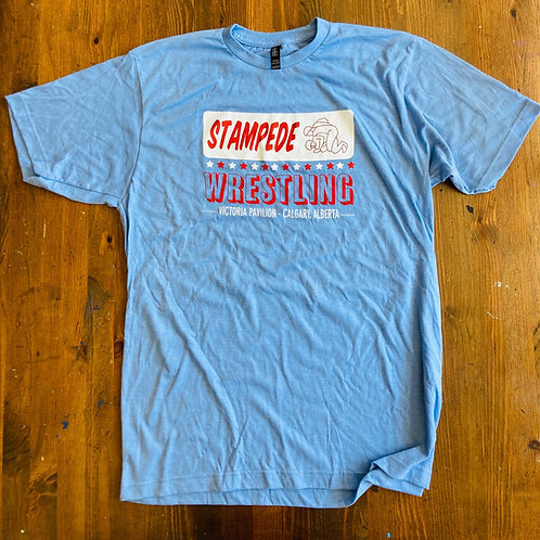 Stampede Wresting T-Shirt (Blue)