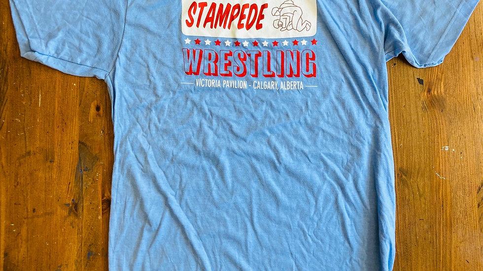 Stampede Wresting T-Shirt (Blue)