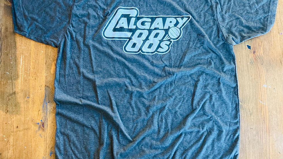Calgary 88's T-Shirt (Black/Faded White)