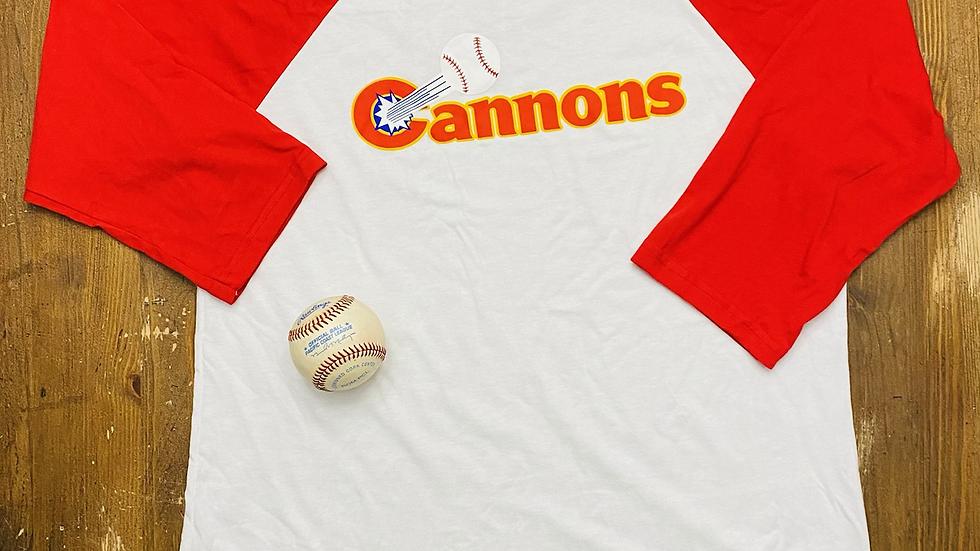 Calgary Cannons 3/4 Baseball Tee (Red)