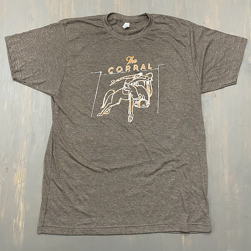 The Corral T-Shirt (Heather Brown)