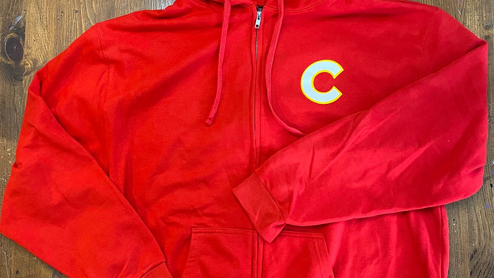 Calgary Cannons Hoodie (Red Zip-Up)