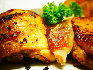 Mustered Garlic Chicken