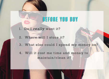 4 questions to ask yourself in order to keep the clutter at bay