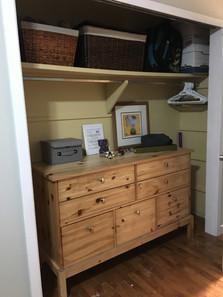 Teen bedroom closet