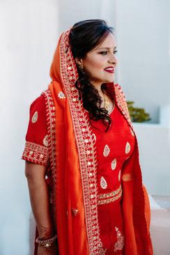 hindu make up, hindu bridal make up, agia anna Naxos,