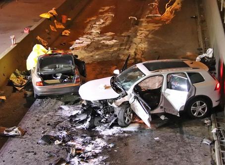تصادف مرگبار در مسی تونل