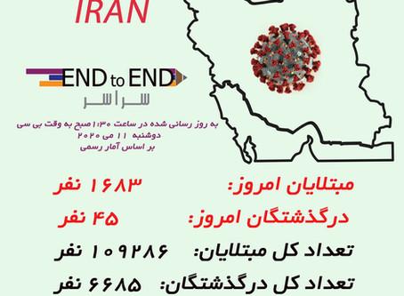 کرونا در ایران ۱۱ می ۲۲ اردیبهشت