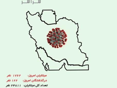 کرونا در ایران ۲۴ مارس ۲۰۲۰