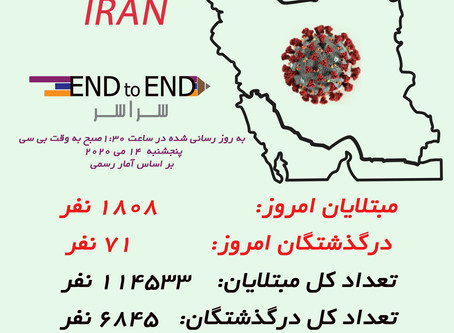 کرونا در ایران  ۱۴ می، ۲۵ اردیبهشت