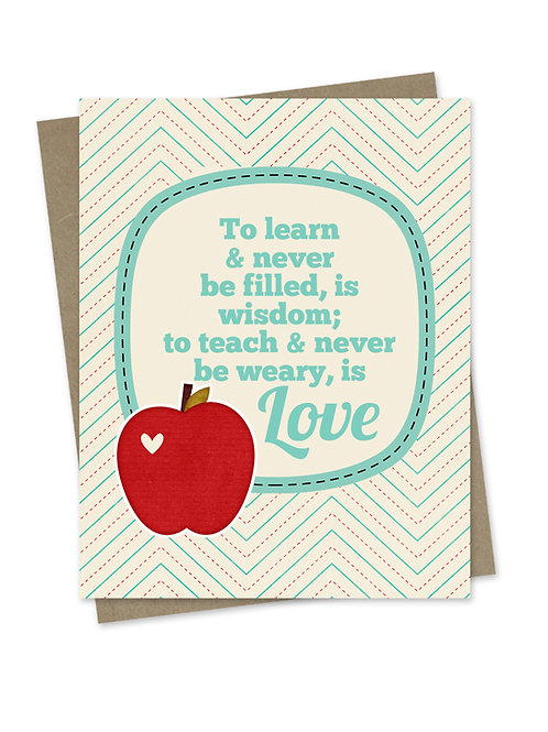 Teaching is Love