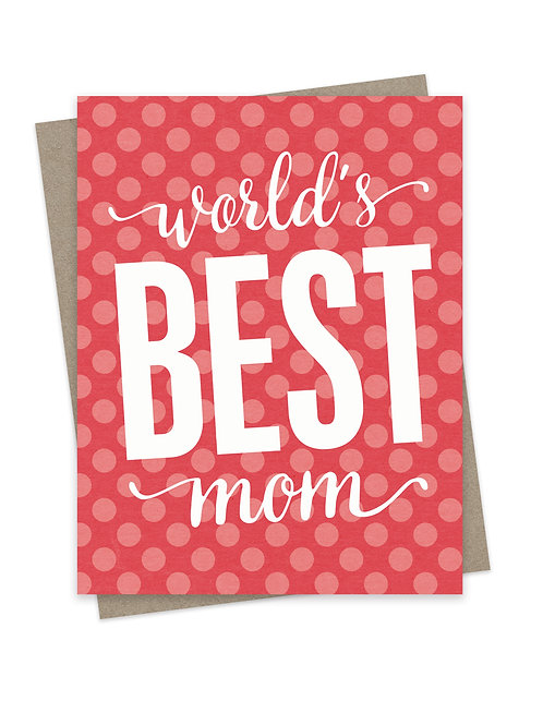 World's Best Mom Coral Dots