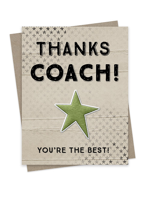 Thanks Coach!