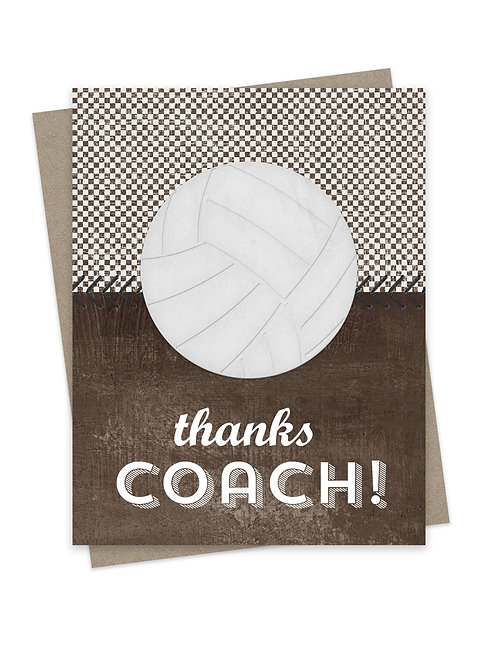 Thanks Coach Volleyball Brown