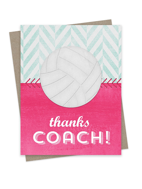 Thanks Coach Volleyball Pink