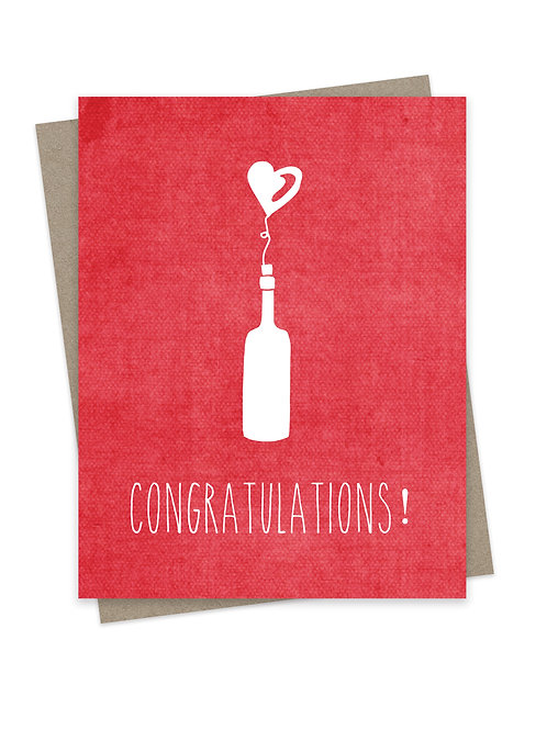 Congratulations with Wine