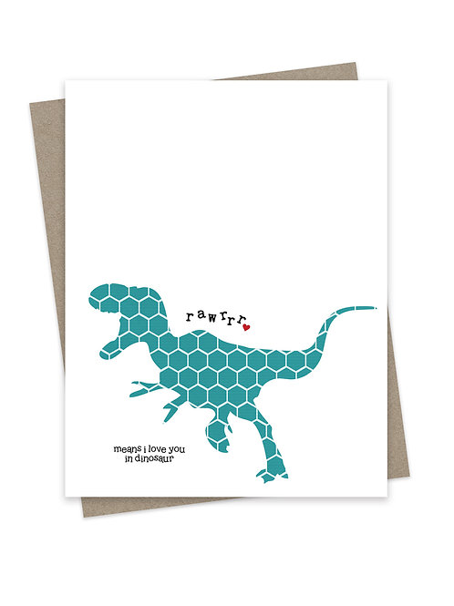 Dino Love Teal