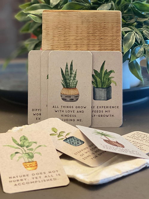 New Growth Plant Themed Affirmation Cards