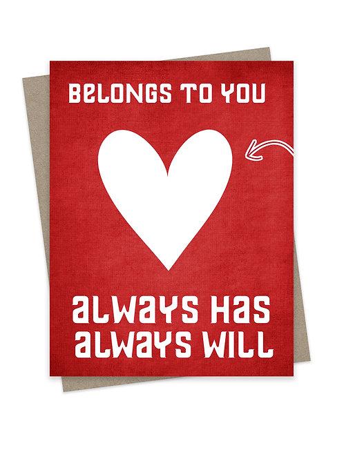 Heart Belongs to You Red