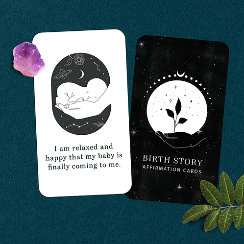 Birth Story Affirmations Cards - Mother Earth